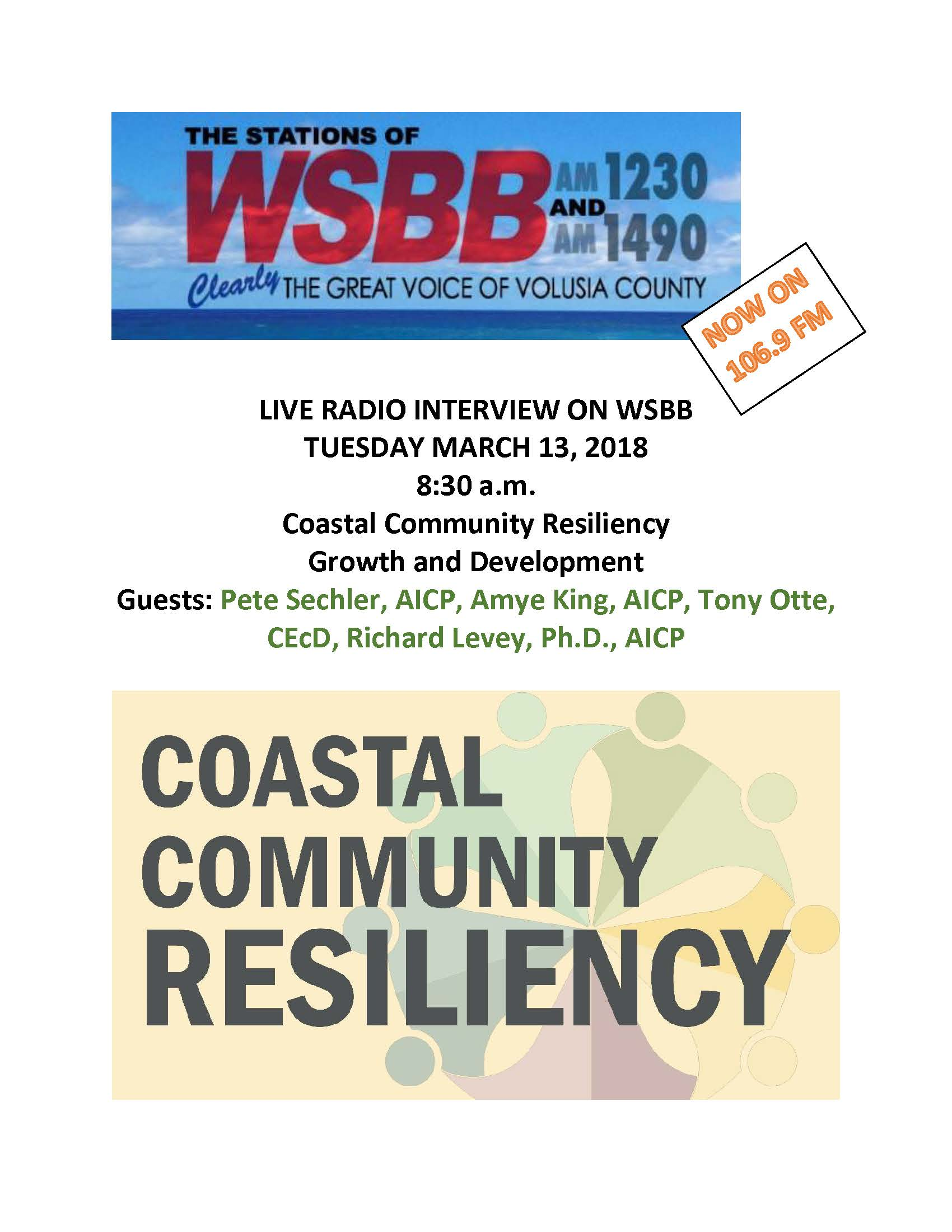 LIVE RADIO INTERVIEW ON WSBB 3.13.18