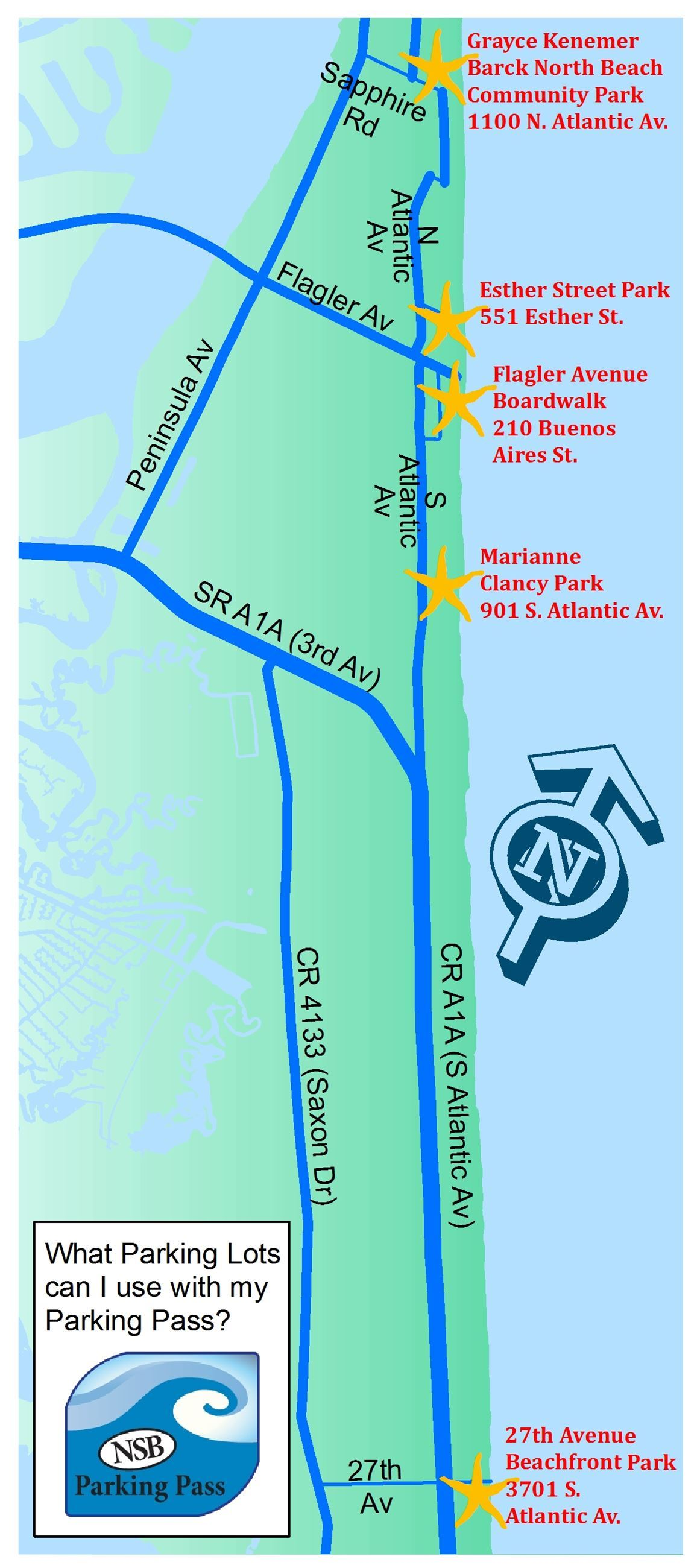 beach lot map