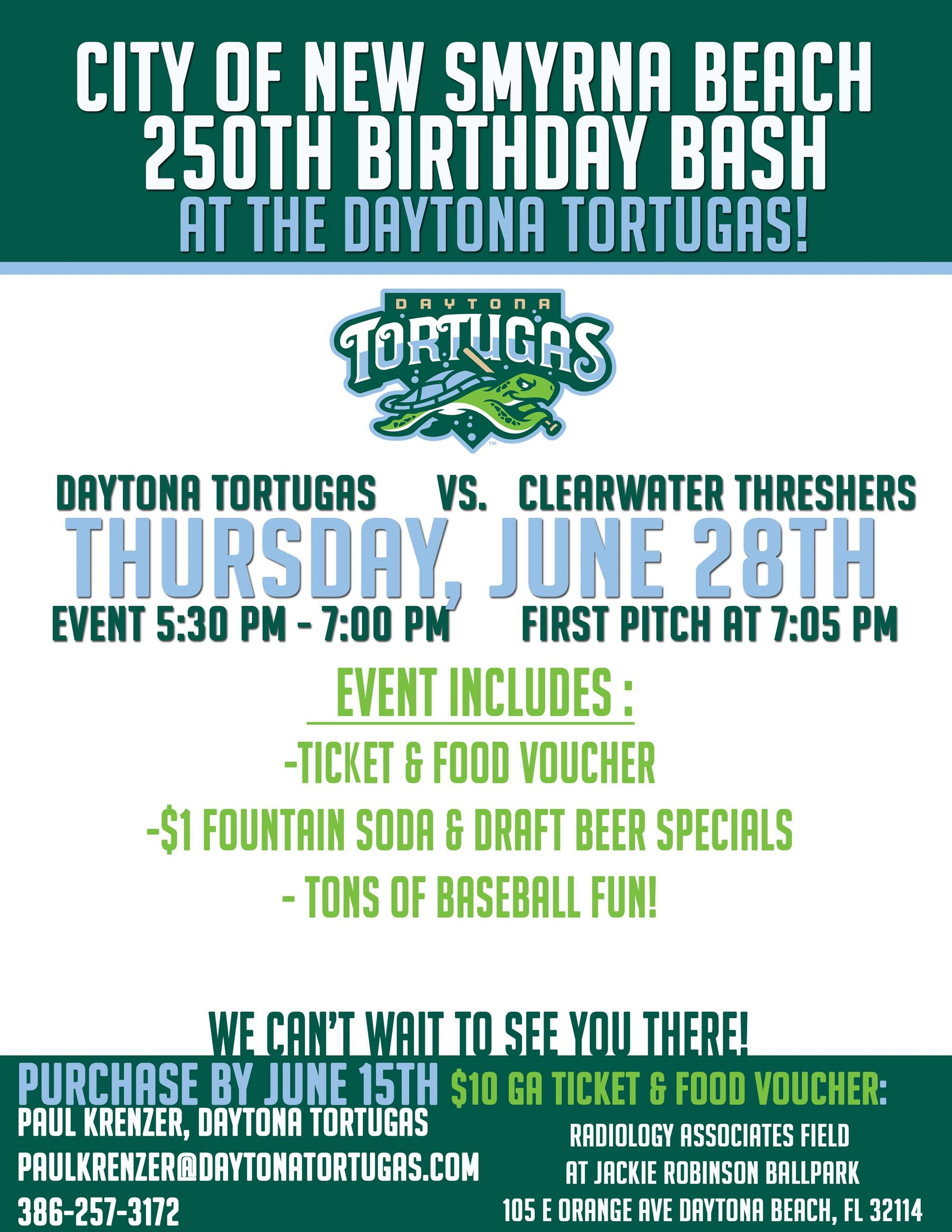 New Smyrna Beach Night at the Ballpark