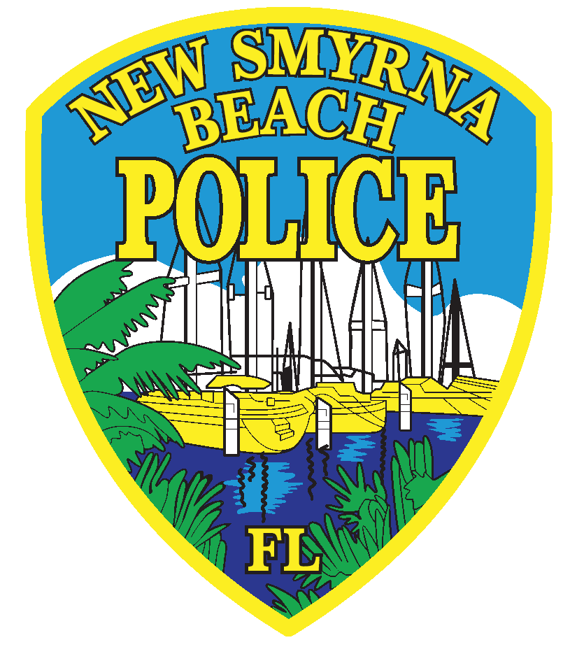NSBPD Logo: 3 Yellow boats in a body of water with plants to the left to bottom of crest.