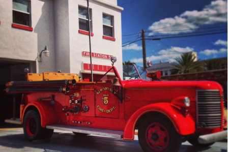 Old number 5 fire truck
